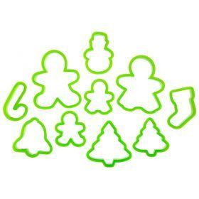 Набор форм для приготовления печенья из 10 шт.10*8 см.-710-333