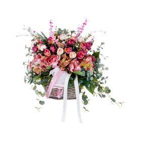 Композиция из искусственных цветов 25*15*30 см. без упаковки-309-596
