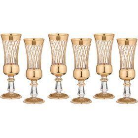 Набор бокалов для шампанского из 6 шт.250 мл.высота=22 см.-103-493