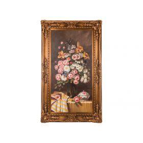 Картина масляная на холсте 119*60 см. багет 150*88 см.-107-1097