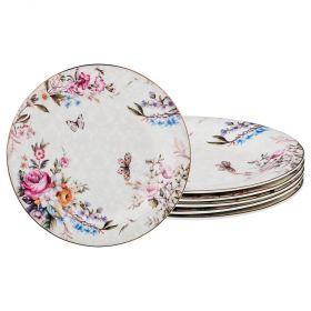 Набор из 6-ти десертных тарелок диаметр=20 см (кор=10набор.)-115-314