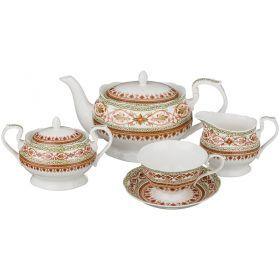 Чайный сервиз на 6 персон 15 пр.1000/200/300/300 мл.-760-452