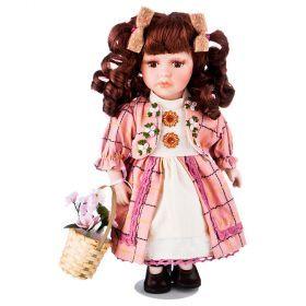 Кукла фарфоровая высота=30 см.-346-260