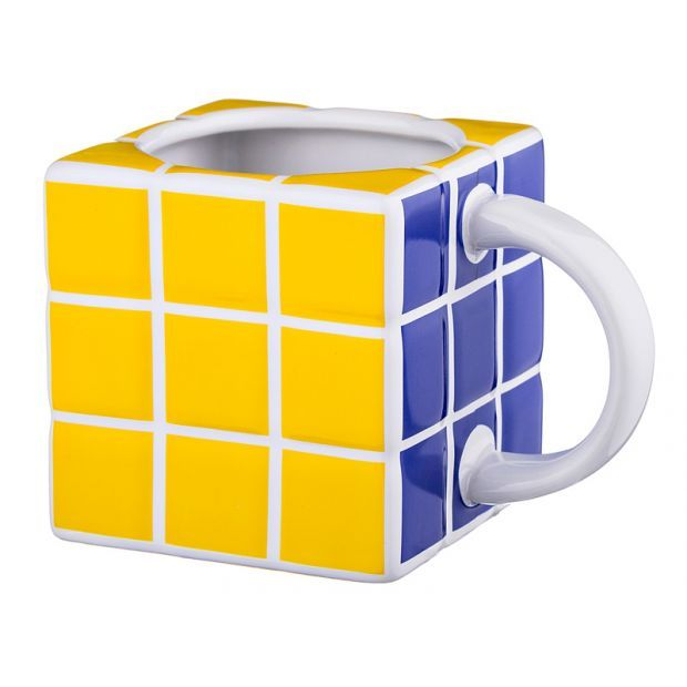 "Кружка ""кубик"" белый 400 мл.12,5*8,5 см.-383-639"