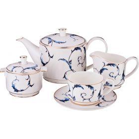 Чайный сервиз на 6 персон 15 пр. 1000/240/300/300 мл.-264-781
