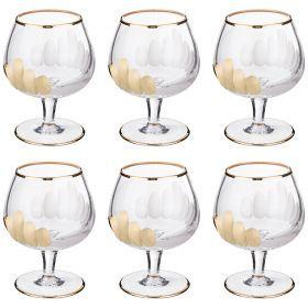 Набор бокалов для коньяка из 6 шт. 200 мл. высота=11 см.-103-575