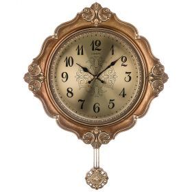 Часы настенные кварцевые с маятником 48,5*9*66,5 см (кор=6шт.) циферблат 29 см-204-246