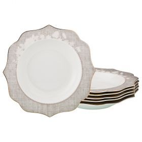 Набор из 6-ти суповых тарелок диаметр=21,5 см (кор=8набор.)-115-322