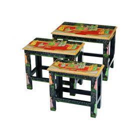 Набор из консольных столиков из 3 шт.17*33*31/24*40*34/30*46*36 см.-881-013