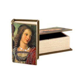 Комплект из 2-х шкатулок-книг 22*16*7 / 17*11*5 см-184-105