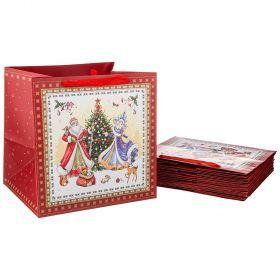Комплект бумажных пакетов из 10 шт. 30*30*25 см. (кор=20комп.)-521-191