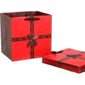 Комплект бумажных пакетов из 10 шт.30*30*25 см.-521-088