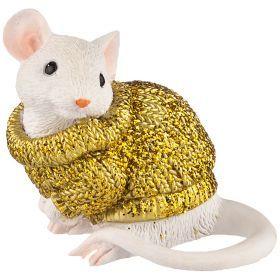 Фигурка мышка в свитере 7*3,5*5 см (мал=6шт./кор=120шт.)-117-314