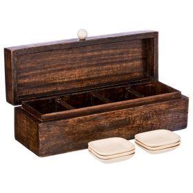 Набор для чайных пакетиков: коробка 32*10*10 см + 6 подставок-719-100