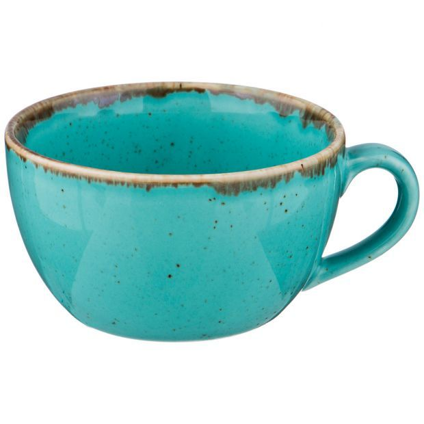Чашка seasons 250 мл цвет бирюзовый (кор=24шт.)-664-205