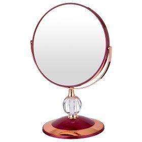 Зеркало настольное диаметр=18 см.высота=28 см.увеличение в 5 раз-416-089