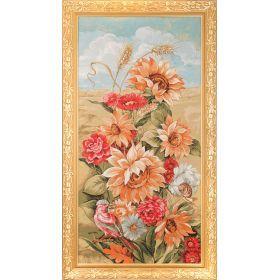Гобеленовая картина сельский букет 105х57см.