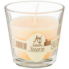 Свеча ароматическая стеариновая в стакане vanilla диаметр 7,5 см высота 7,5-348-802