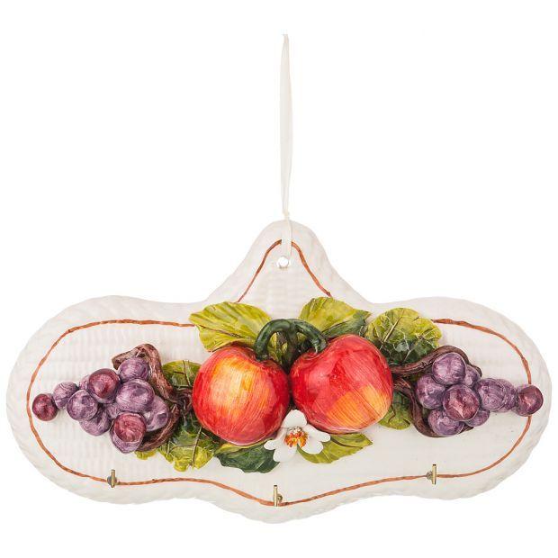 """Декоративное панно/ вешалка для полотенец """"фруктовое ассорти"""" 28*16 см-335-366"""