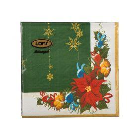 Салфетки бумажные 3-х слойные 20 шт. 33*33 см.