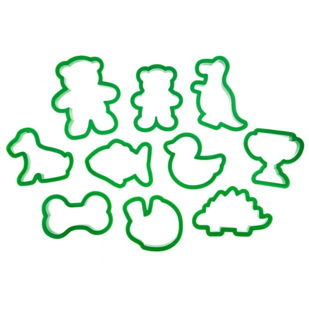 Набор форм для приготовления печенья из 10 шт.10*8 см.-710-336