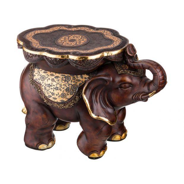 """Подставка-слон """"фундамент материального достатка"""" 32,5*32,5 см. высота=46 см.-114-336"""