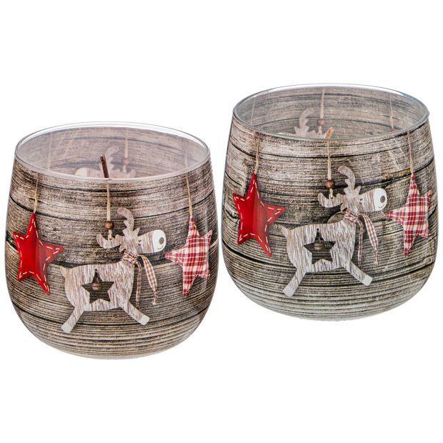 """Ароматическая свеча в стакане """"новогоднее настроение""""-602-095"""