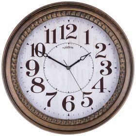 Часы настенные кварцевые диаметр 44,5 см диаметр циферблата 34,65 см (кор=8шт.)-207-319