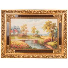Картина масляная на холсте 89*59 см. багет 125*94 см.-107-1069