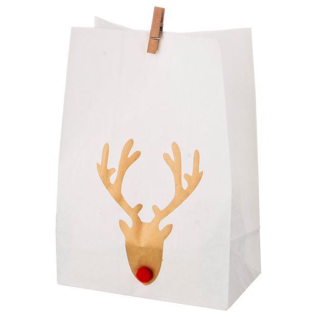 Комплект пакетиков для подарков с прищепкой из 24 шт. 14*20 см (кор=16 комп.)-845-105
