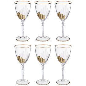 Набор бокалов для вина из 6 шт. 200 мл. высота=19 см.-103-577