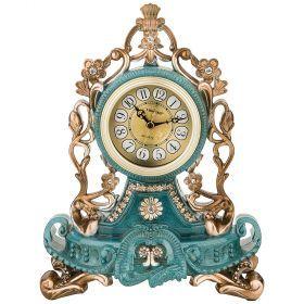 Часы настольные кварцевые цвет: тиффани 22*12,5*28,5 см (кор=12шт.) циферблат 8 см-204-250