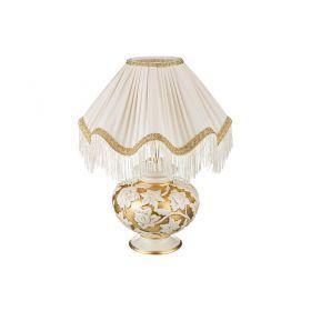 Светильник настольный+абажур золото диаметр=36 см. высота=47 см. е27-313-032