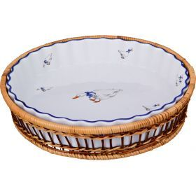 Блюдо для запекания на подставке диаметр=28 см.высота=5 см.-792-014