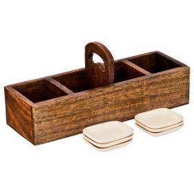 Набор для чайных пакетиков: коробка 32*10*13 см + 6 подставок-719-116