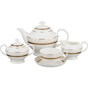 Чайный сервиз сантини на 6 персон 15 пр.1200/250/300/300 мл
