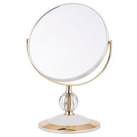 Зеркало настольное диаметр=18 см.высота=30 см.увеличение в 5 раз-416-084
