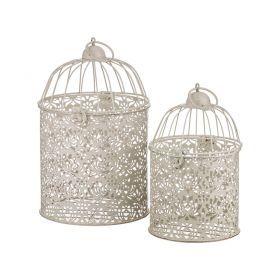 Набор клеток для птиц декоративных из 2-х шт.l:19*19*28,s:15*15*23 см-123-142