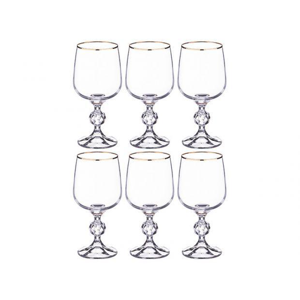 """Набор бокалов для вина из 6 шт. """"клаудия"""" 230 мл. высота=15 см.-669-211"""