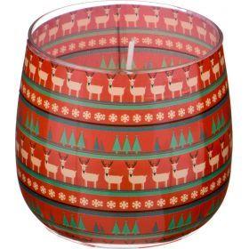 Ароматическая свеча в стакане диаметр=8 см. высота=7 см. цвет зеленый-602-074