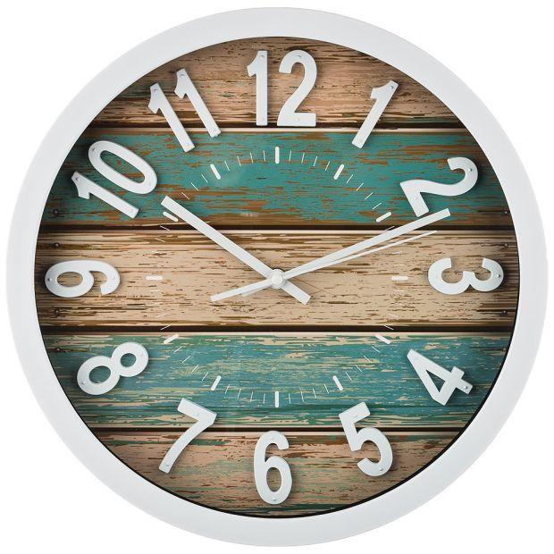 "Часы настенные кварцевые ""wood"" диаметр=35 см. диаметр циферблата=31 см. (кор=6шт.)-220-389"