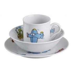 Набор посуды 3 пр.:тарелка,миска,кружка диаметры=19/16 см.250 мл.высота=8 см.
