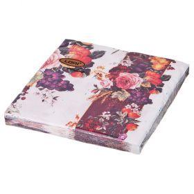 Салфетки бумажные 2-х слойные 33*33 см-423-227