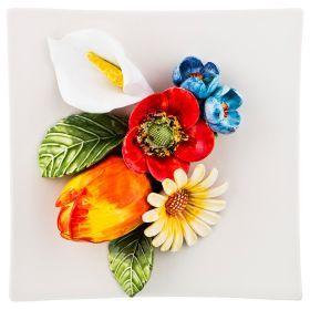 Панно настенное  цветы 18*18 см-628-697
