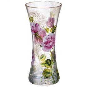 Ваза декоративная бутон розы розовый высота=18 см-135-5082