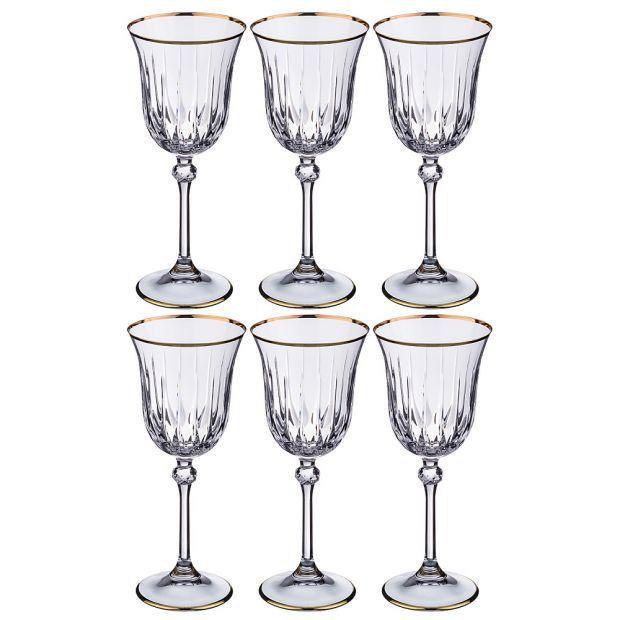 Набор бокалов для вина из 6 шт. 200 мл. высота=20 см.-103-553