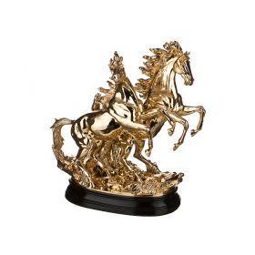 Фигурка пара лошадей 43*19 см.высота=42 см.