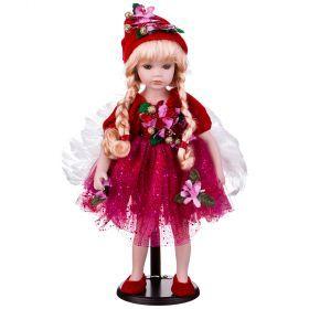 Кукла фарфоровая высота=42 см.-346-233