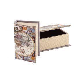 Набор шкатулок-книг из 2 шт. 22*16*7/17*11*5 см.-184-174