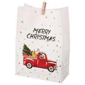 Комплект пакетиков для подарков с прищепкой из 24 шт. 14*20 см (кор=16 комп.)-845-108
